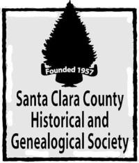 Logo for Santa Clara County Historical and Genealogical Society Founded in 1957