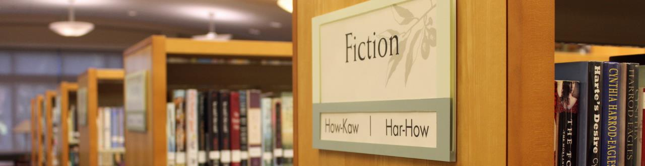 Central Park Library Fiction book area